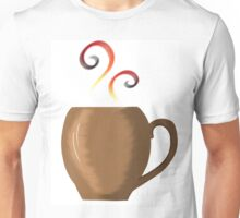 Brown cup of fresh coffee or tea Unisex T-Shirt