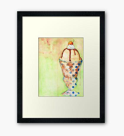 Ice Cream Sundae Framed Print