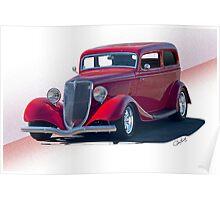 1934 Ford Victoria Sedan I Poster