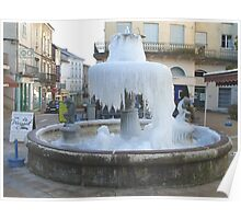 Frozen French Fountain Poster