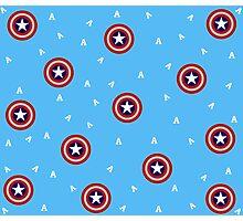 Captain America's Shield print Photographic Print