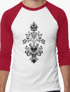 Haunted Mansion Wallpaper Design                         Men's Baseball ¾ T-Shirt