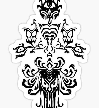 Haunted Mansion Wallpaper Design                         Sticker