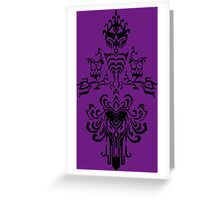 Haunted Mansion Wallpaper Design                         Greeting Card