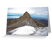 Mount Kenya - Looking North-West towards Nelion Greeting Card