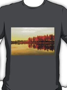 Autumn reflections in the lake T-Shirt