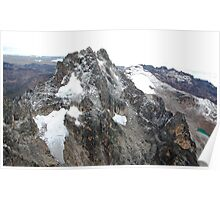 Mount Kenya - Looking South-East towards Batian & Nelion Poster