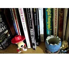 the bookshelf - photography corner Photographic Print