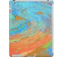 COLOR CHALK ON CEMENT iPad Case/Skin