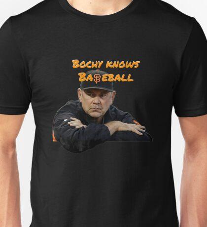Bochy Knows Baseball (Dark Version) Unisex T-Shirt