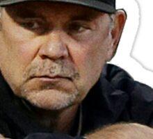 Bochy Knows Baseball (Dark Version) Sticker