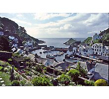 Polperro Harbour, Fishing Boats, Cornwall, UK. Photographic Print