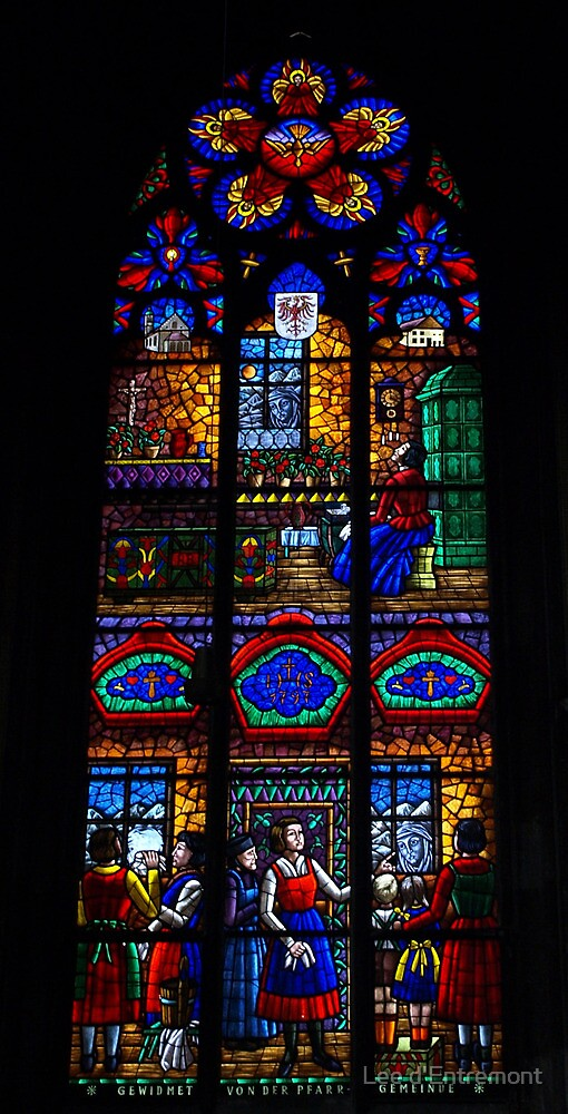 Window in the Voltiv Church. by Lee d'Entremont
