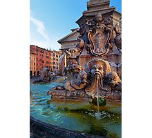 Pantheon Fountain Photographic Print