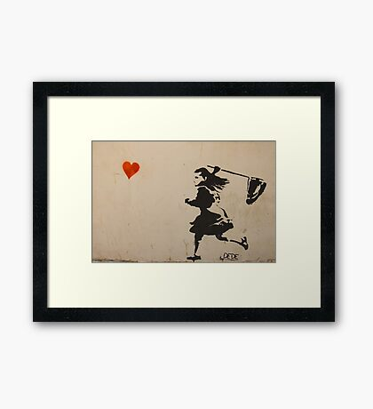 Catching Love Framed Print