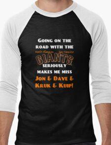 SF Giants Fans AWAY game shirt (for black or gray) Men's Baseball ¾ T-Shirt
