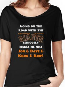 SF Giants Fans AWAY game shirt (for black or gray) Women's Relaxed Fit T-Shirt