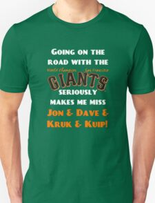 SF Giants Fans AWAY game shirt (for black or gray) Unisex T-Shirt