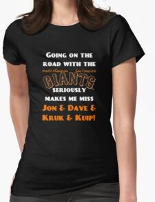 SF Giants Fans AWAY game shirt (for black or gray) Womens Fitted T-Shirt