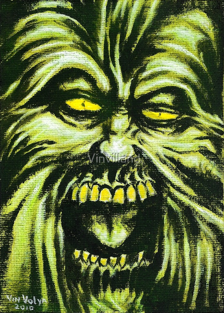 Ruffian, Horror Painting by Vinvilland