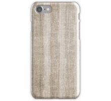 Striped burlap (Hessian series 3 of 3) iPhone Case/Skin