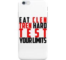 Eat Clen Tren Hard (Black) iPhone Case/Skin