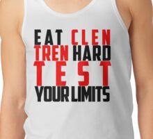 Eat Clen Tren Hard (Black) Tank Top