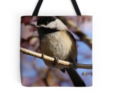 Chickadee: Under a Warming Sun Tote Bag