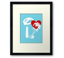 I Heart Adventure Framed Print