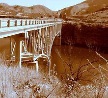 Sepia Bridge Over Lucky Peak...Idaho by trueblvr