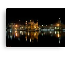 GOLDEN TEMPLE @ NIGHT Canvas Print