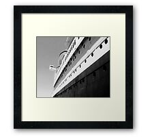 Queen Mary Departs  Framed Print