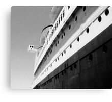 Queen Mary Departs  Canvas Print