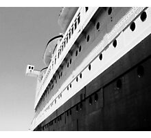 Queen Mary Departs  Photographic Print