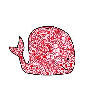 Whale: Red  Photographic Print