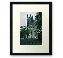 Facade from south Nidaros Trondheim Norway 198406220010m Framed Print