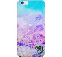 Peeling paint, purple blue abstract painting iPhone Case/Skin