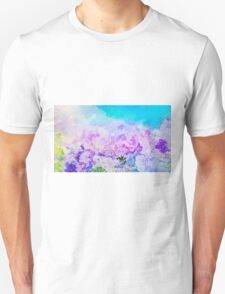 Peeling paint, purple blue abstract painting T-Shirt