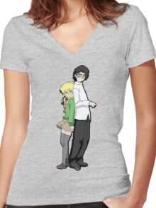 Zorro Days! CesarXAlexis  Women's Fitted V-Neck T-Shirt
