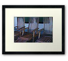 Deck Chairs Framed Print
