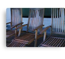 Deck Chairs Canvas Print
