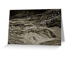 5 star ***** .Nesselva Waterfalls . Norway.Brown Sugar Story. Greeting Card