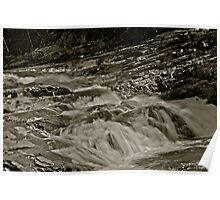 5 star ***** .Nesselva Waterfalls . Norway.Brown Sugar Story. Poster