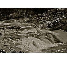 5 star ***** .Nesselva Waterfalls . Norway.Brown Sugar Story. Photographic Print