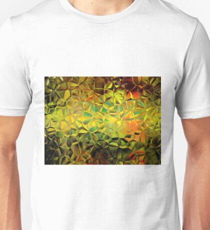 Golden shutter glass abstract Unisex T-Shirt