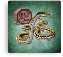 Year of the Snake - Dark Background Canvas Print