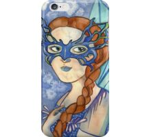 Shadows of blue iPhone Case/Skin