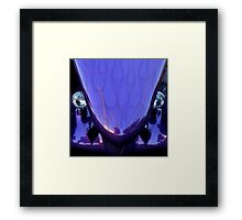 Purple and Reflection Framed Print