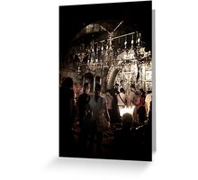 The spot where Jesus was crucified - Church of the Holy Sepulchre, Jerusalem, Israel Greeting Card