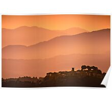 Tuscany Sunset - Migiliano Poster